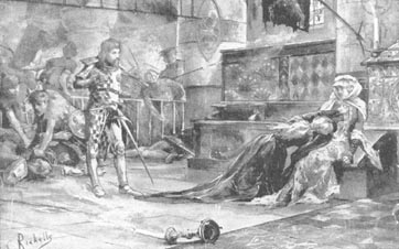 The capture of Bruce's wife and daughter at Tain