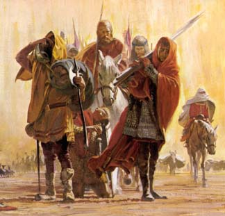Crusaders crossing the desert