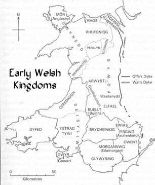 Early Wales Map