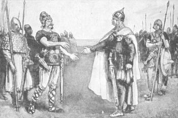 Edmund Ironside meets Canute