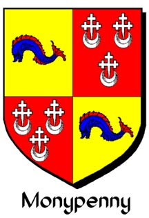 Monypenny arms from Scots Peerage