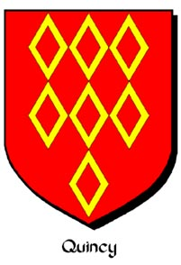 Arms of Roger de Quincy