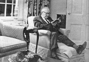Roy Thomson at home