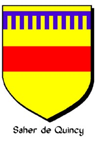 Arms of Saher de Quincy