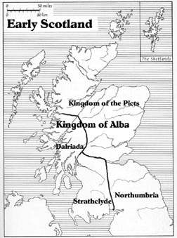 Map of Early Scotland