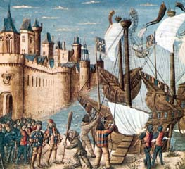 St. Louis leaving on Crusade, 1248