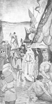 St. MArgaret landing at Queensferry, 1066